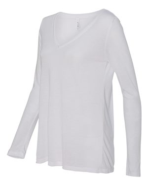 Flowy V Neck Long Sleeve