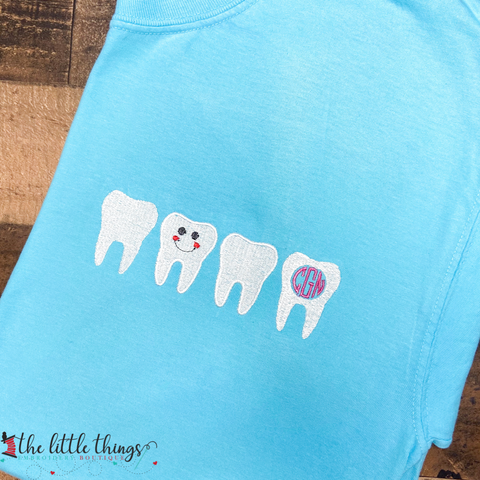 Dental Monogram Tee or Sweatshirt