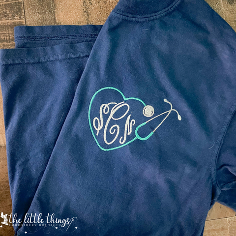 Monogram Stethoscope Tee or Sweatshirt
