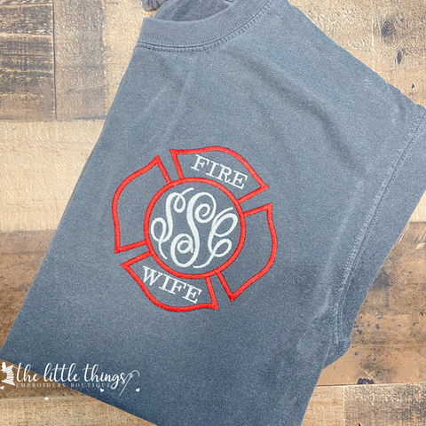 Fire Wife Monogram Tee or Sweatshirt