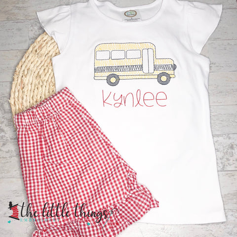 Scribble Bus Shirt or Outfit *BOYS AND GIRLS*