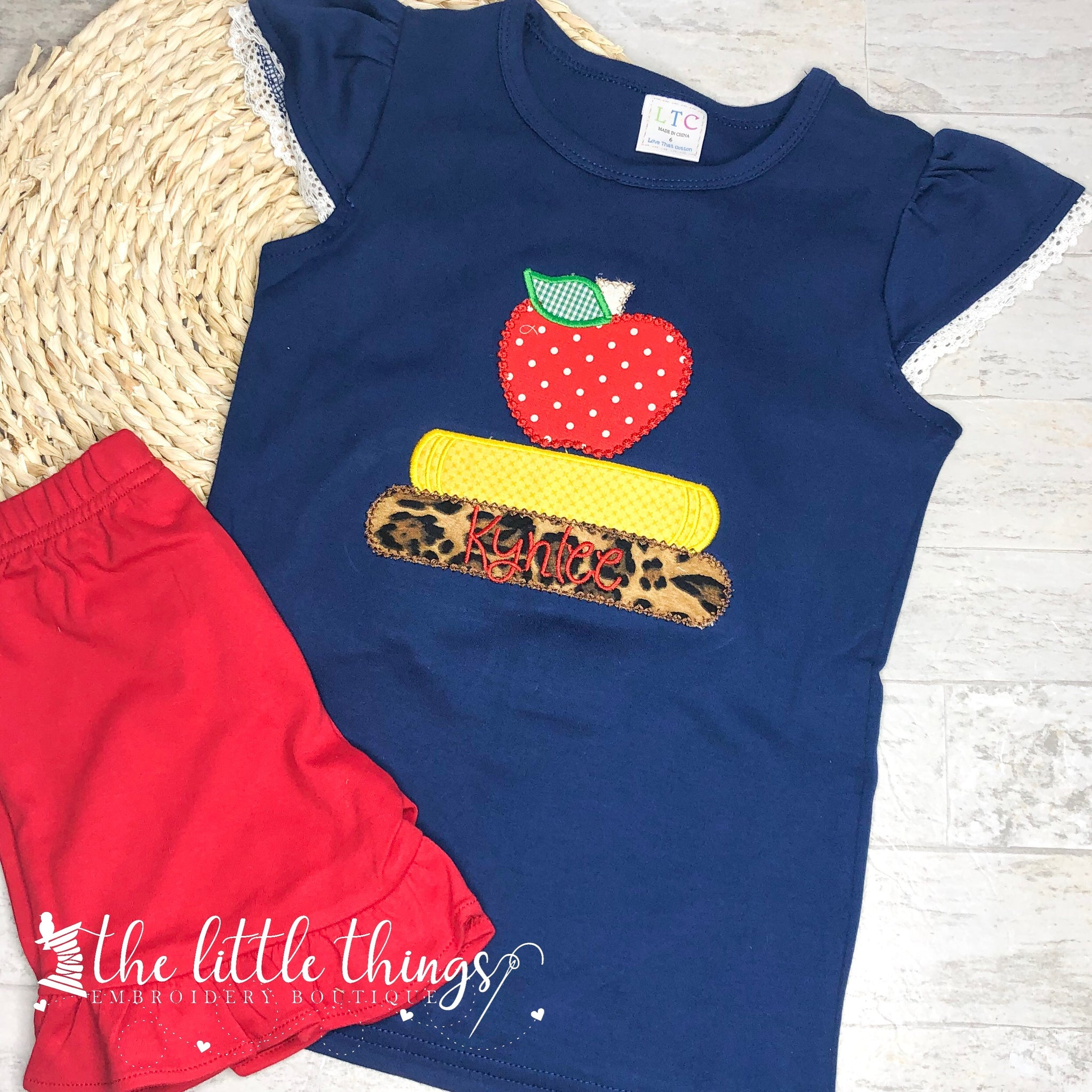 Apple with Books Shirt or Outfit