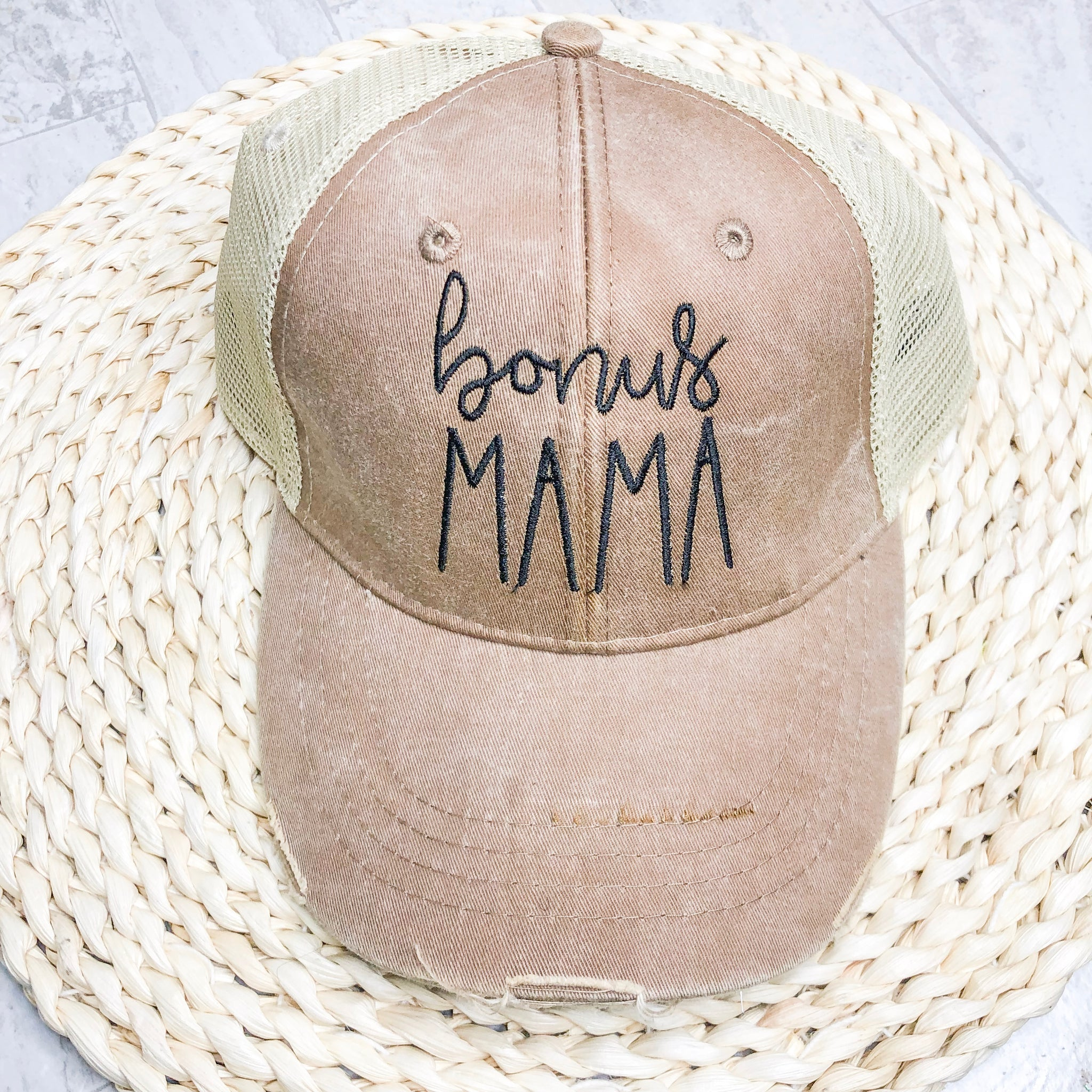 Bonus Mama Distressed Trucker