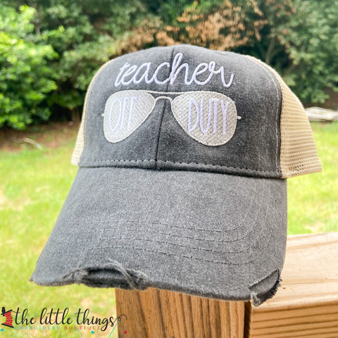 Teacher Off Duty Hat