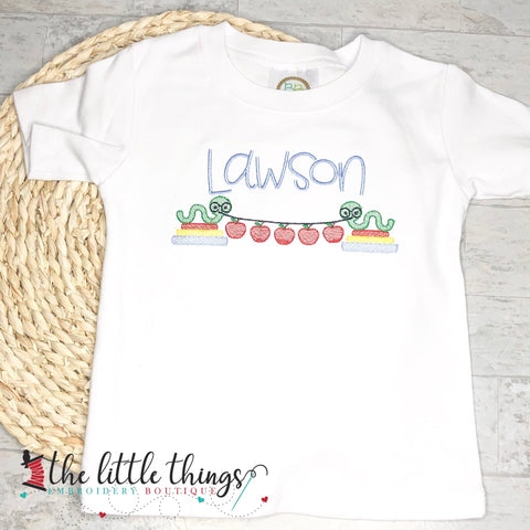 Boys Bookworm Name Shirt