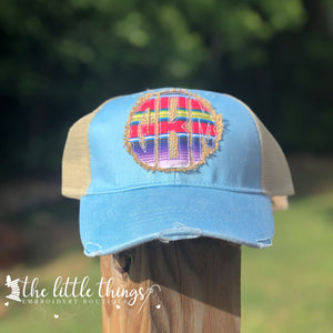 Raggedy Serape Applique Trucker Hat