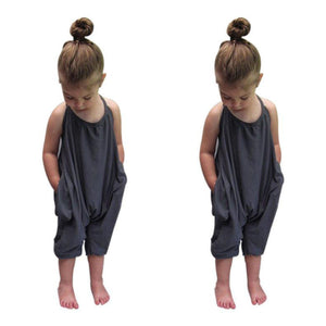 54fa8ba3f568 Girls clothes Straps Rompers Toddler Kid Baby Girls Jumpsuits Piece Pants  Clothing drop shipping