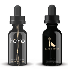 Humo E-liquid Cake Batter E-liquid front and back