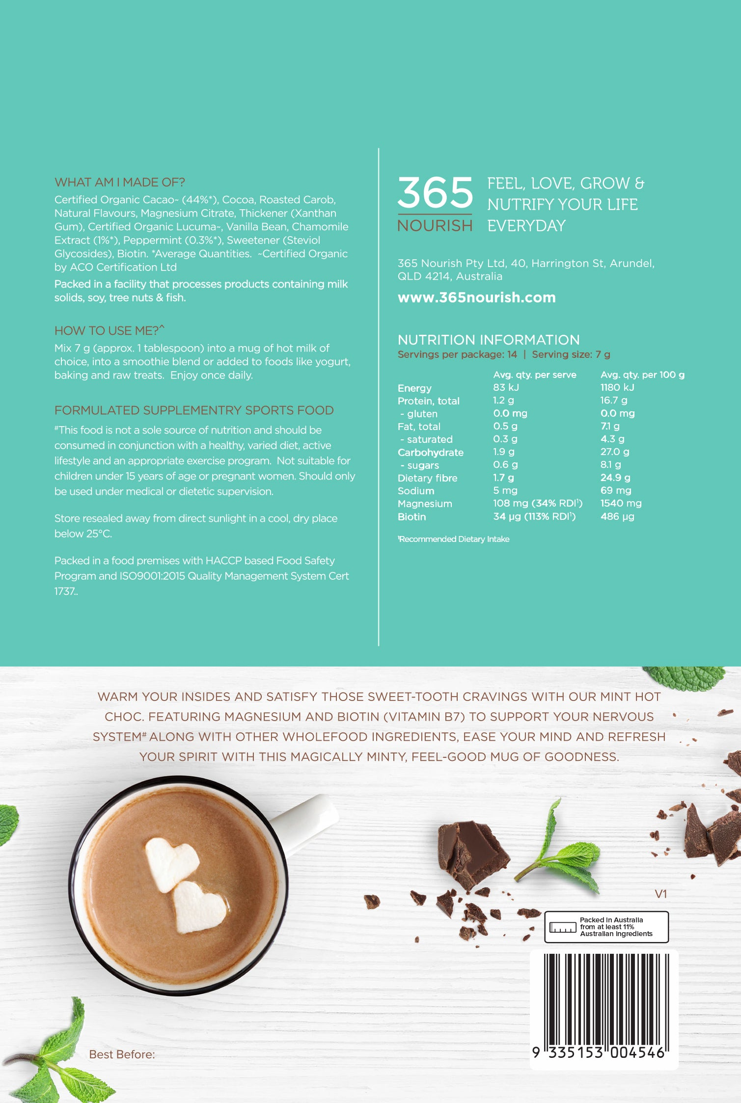 Mint Hot Chocolate 100g