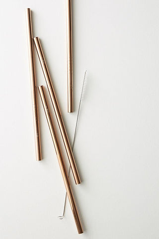 Ever Eco - Rose Gold Straws - 365 Nourish