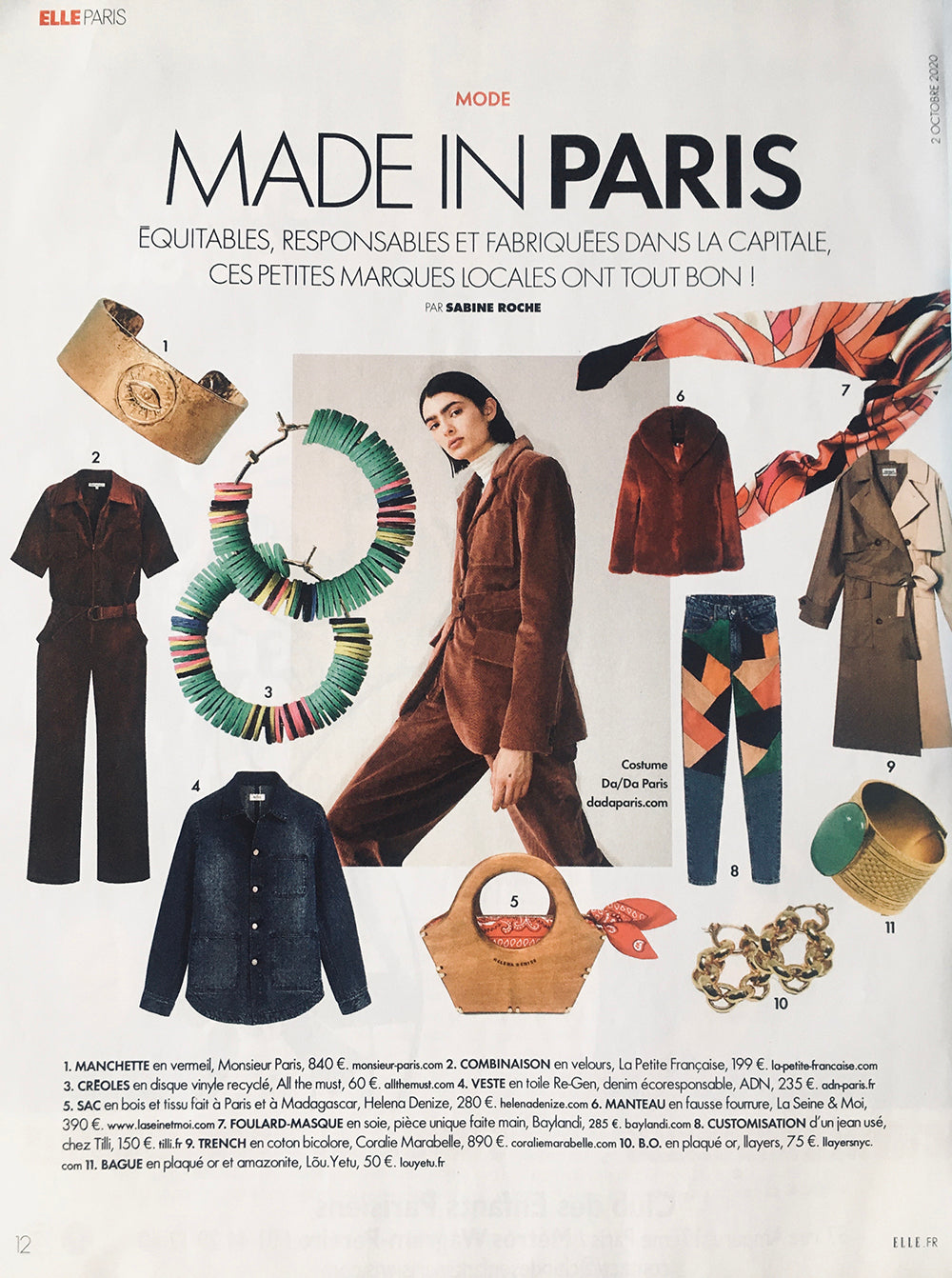 llayers bijoux made in paris elle france Sabine Roche