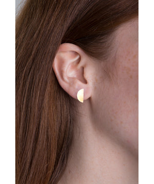 llayers earrings mini moon quarter gold - boucles d'oreilles llayers quarter petit quartier de lune