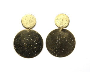 llayers jewelry earrings double meteor textured dangly earrings boucles oreilles pendantes