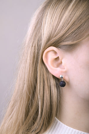 llayers earrings asteroid lunar stone bijoux boucles d'oreilles pierre de lune