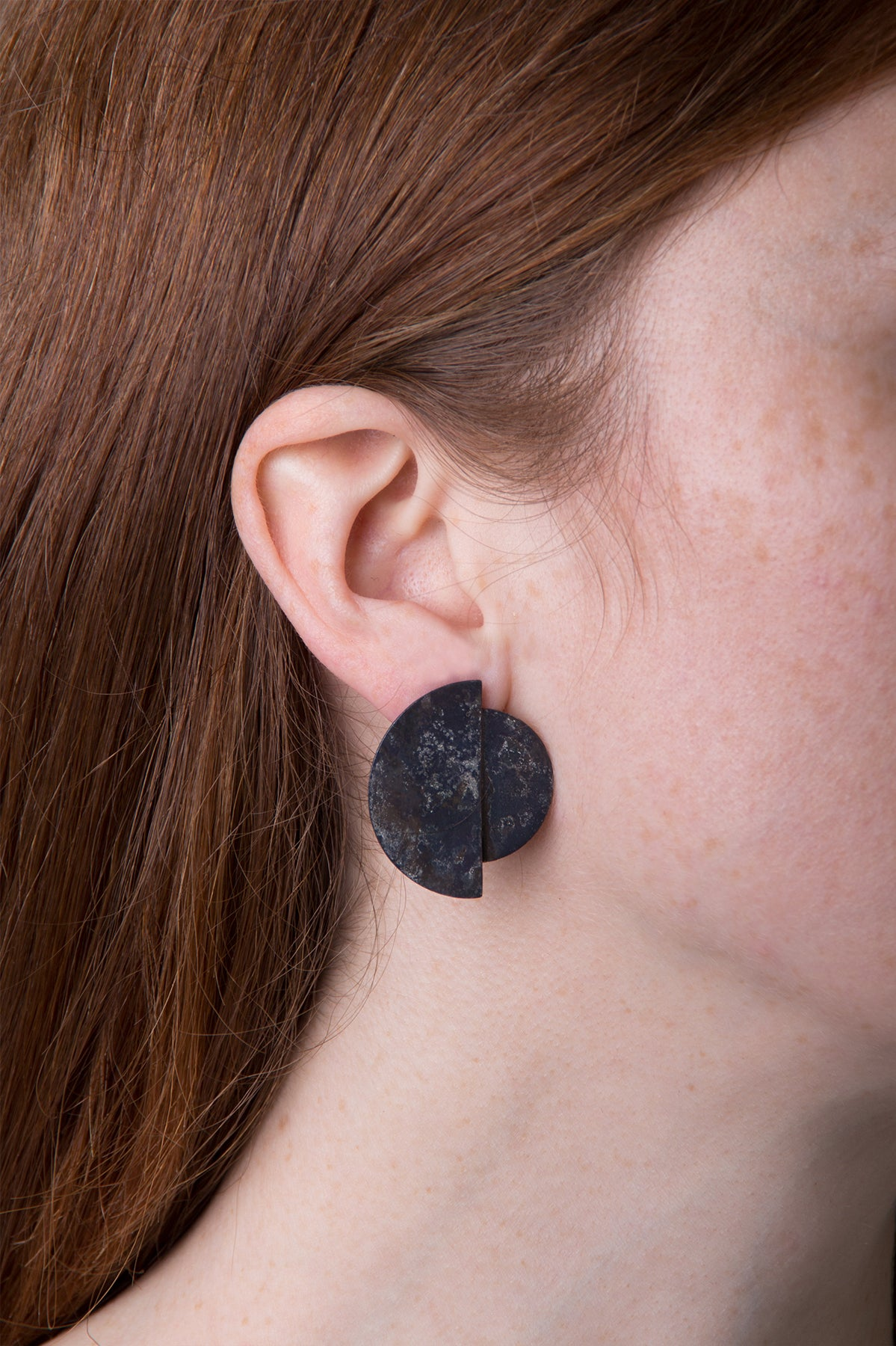 llayers earrings boucles oreilles eclipse black