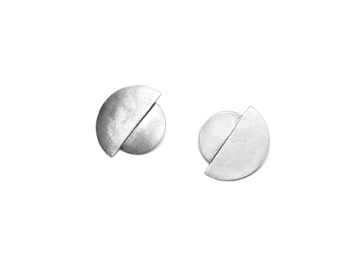 llayers jewelry earrings silver eclipse boucles oreilles lune minimal