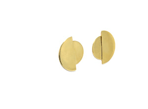 llayers jewelry earrings gold eclipse boucles oreilles or lune minimal