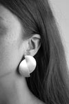 llayers jewelry oversize earrings fusion+ silver offset circles art deco made in france