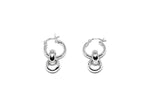 llayers jewelry infinity interlaced silver hoops earrings- boucles d'oreilles créoles avec cercles entremêlés en argent