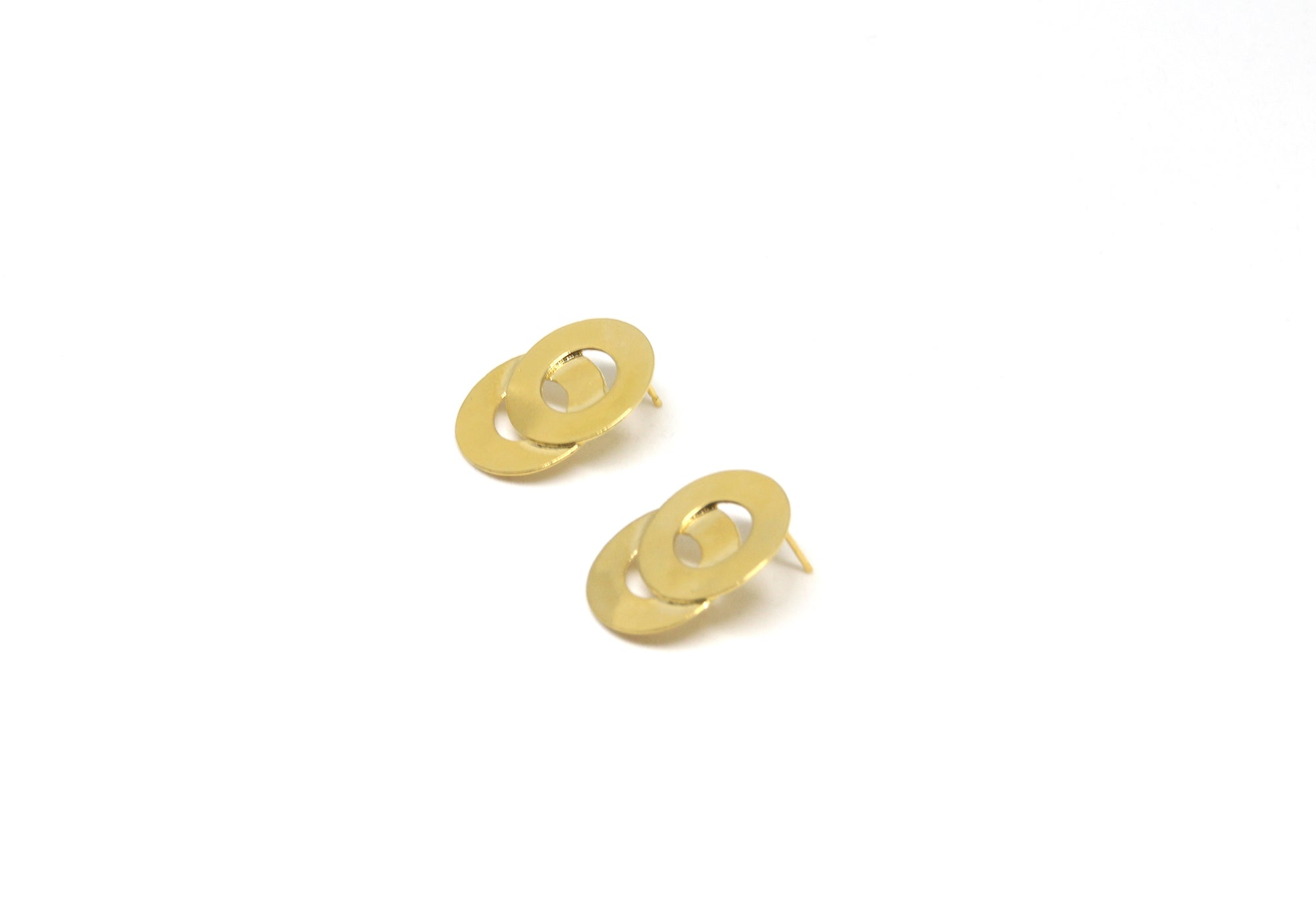 llayers earrings loop gold circles bucles d'oreilles or cercles