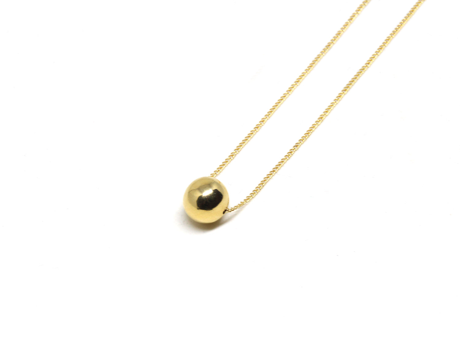 llayers jewelry solar gold necklace with sphere - collier avec boule en or