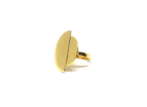 llayers jewelry ring eclipse gold bague lunaire or made in france