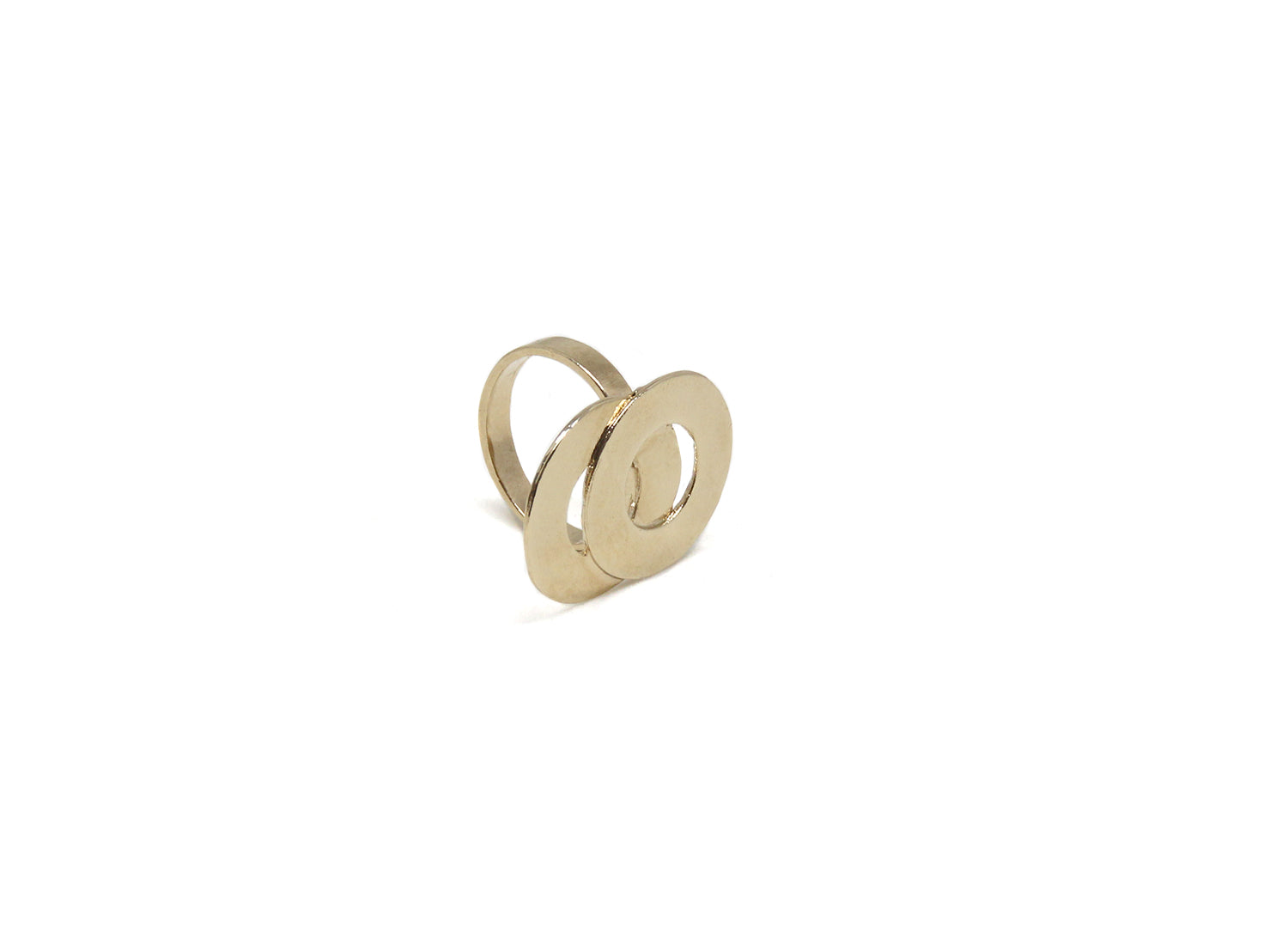 llayers jewelry ring circles loop gold b- bague llayers Loop minimale or cercles entrelacés