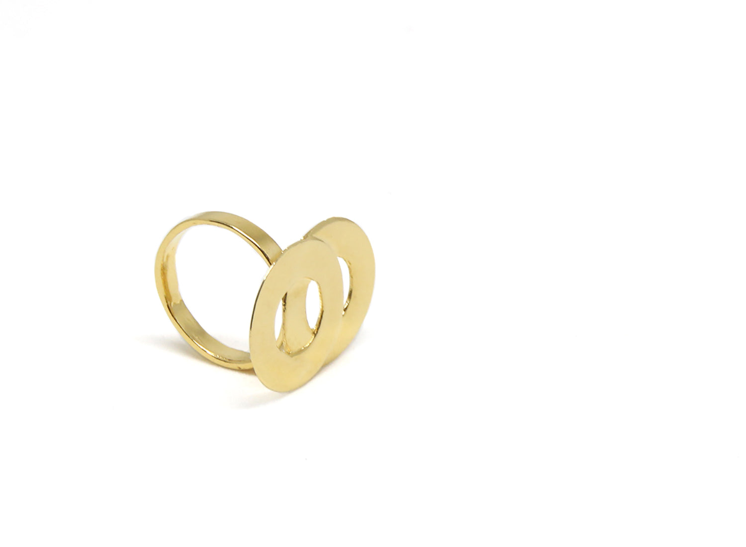 llayers jewelry ring circles loop gold - bague llayers Loop minimale or cercles entrelacés