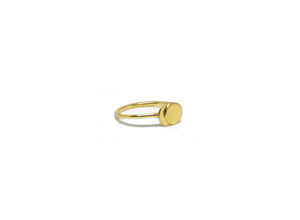 llayers ring mini moon eclipse vermeil bague lune minimale eclipse or
