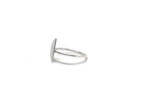 llayers ring mini quarter geometric moon silver bague quartier de lune minimal argent