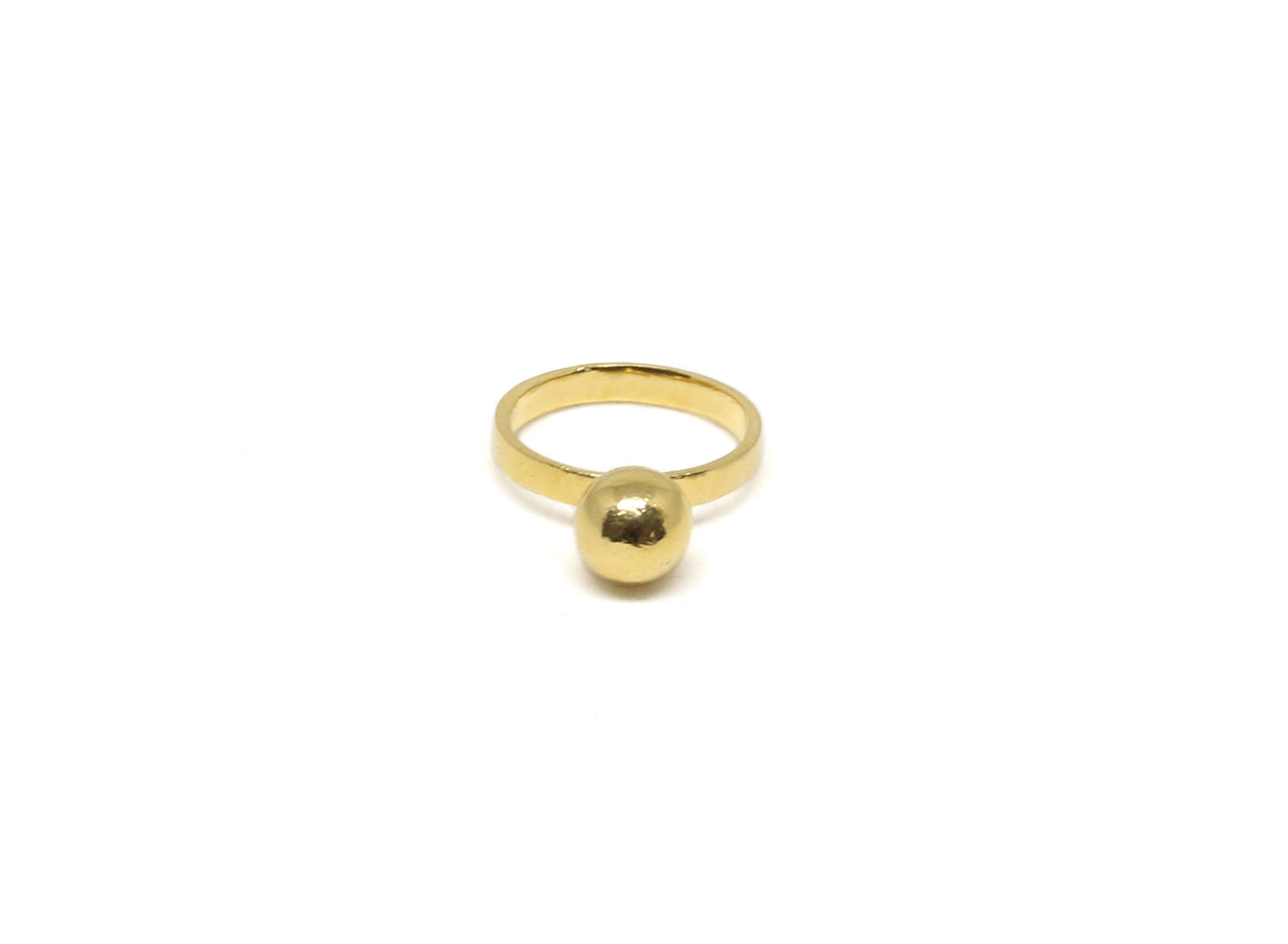 llayers jewelry ring moon sphere solar gold bague minimale or sphere boule lune