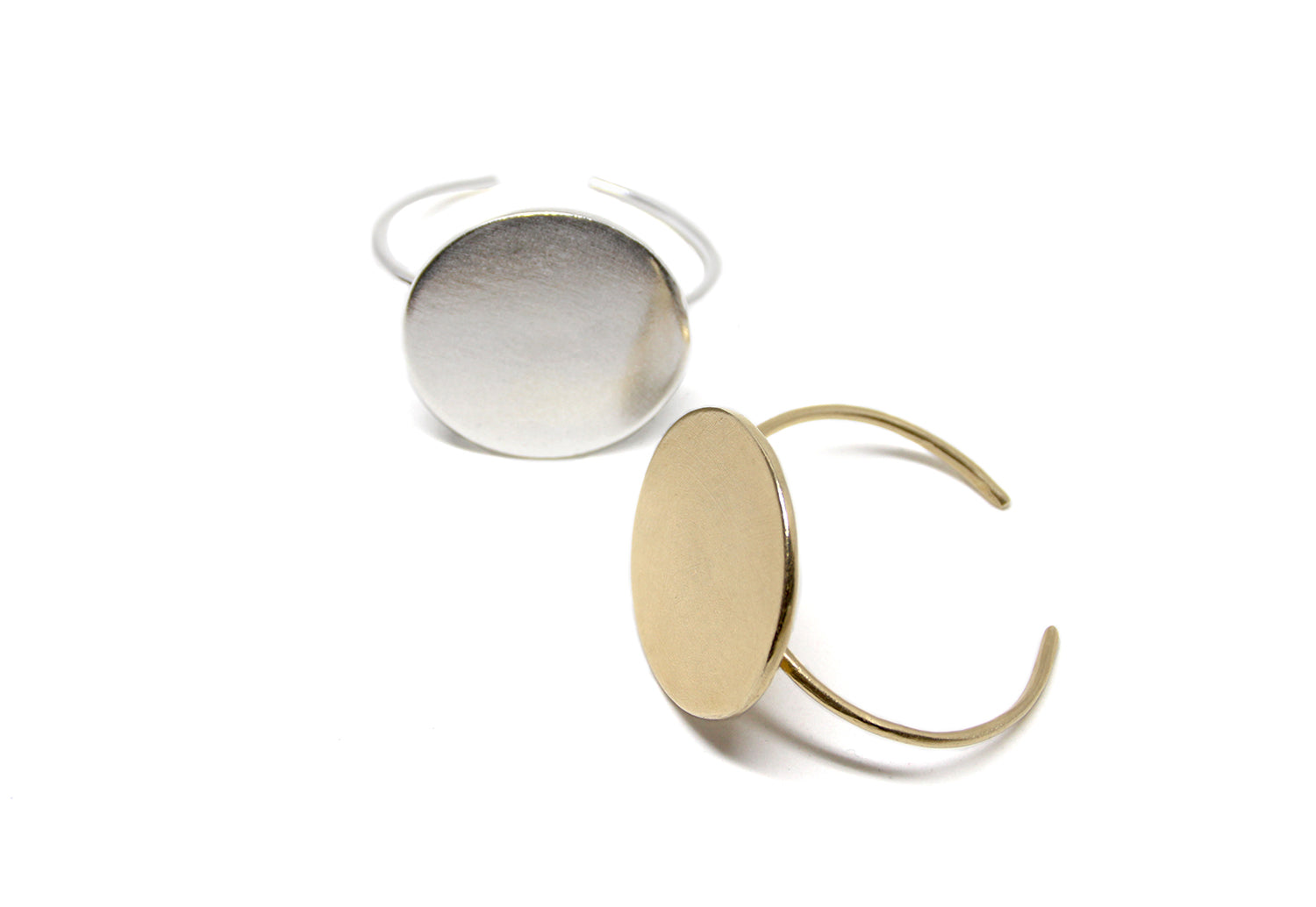llayers jewelry cuff solstice brass bracelet rond minimal lunaire laiton made in france