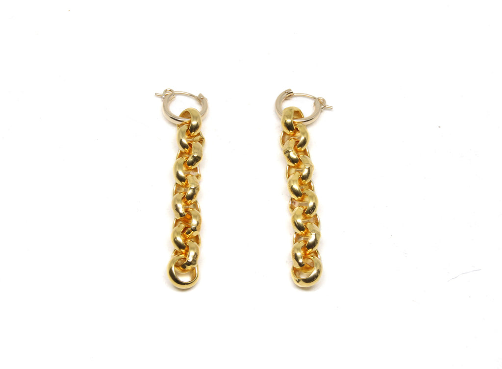 llayers jewelry infinity + interlaced gold hoops earrings- boucles d'oreilles créoles avec cercles entremêlés en plaqué or