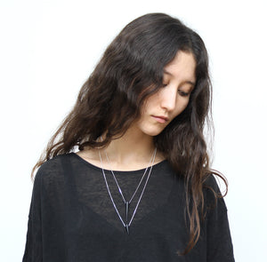 llayers jewelry necklace black punk spike collier pointe noire