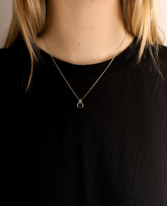 llayers jewelry Infinity silver pendant with interlaced rings minimal collier avec anneaux entrelacés en argent