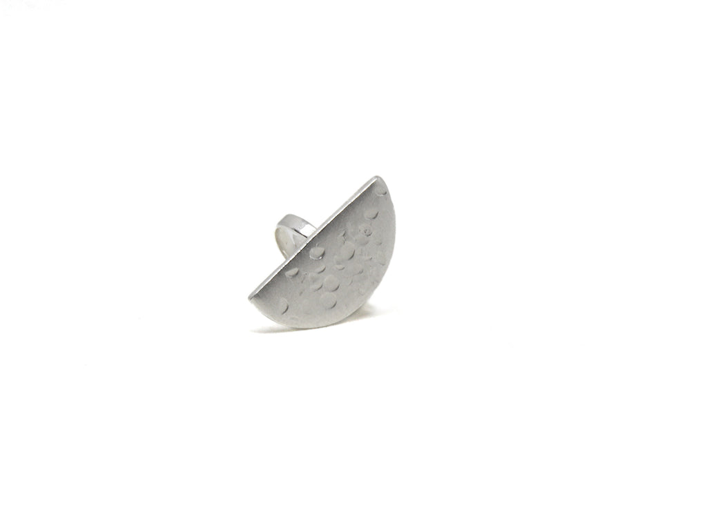 llayers jewelry ring quarter plato lunar silver - bague llayers plato quater geometric géométrique