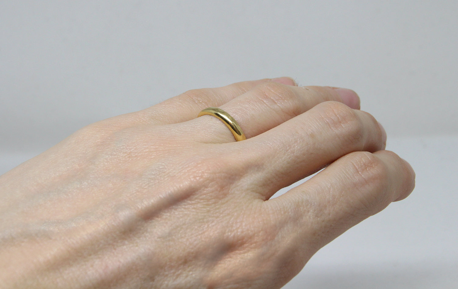 bague fiancailles llayers martelée vermeil made in france - hammered stacking ring
