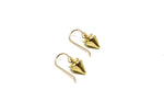 llayers jewelry small spikes gold hoops earrings- boucles d'oreilles petits clous en or