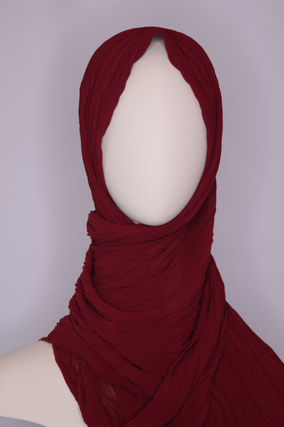Pleated Chiffon Hijabs