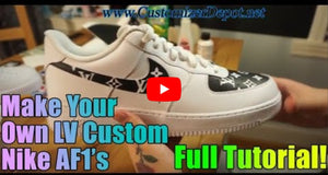 Tutorial : Custom LV painted Nike Air Force 1 Louis Vuitton Inspired