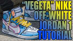Vegeta Nike Off-White Jordan 1 Custom Sneakers
