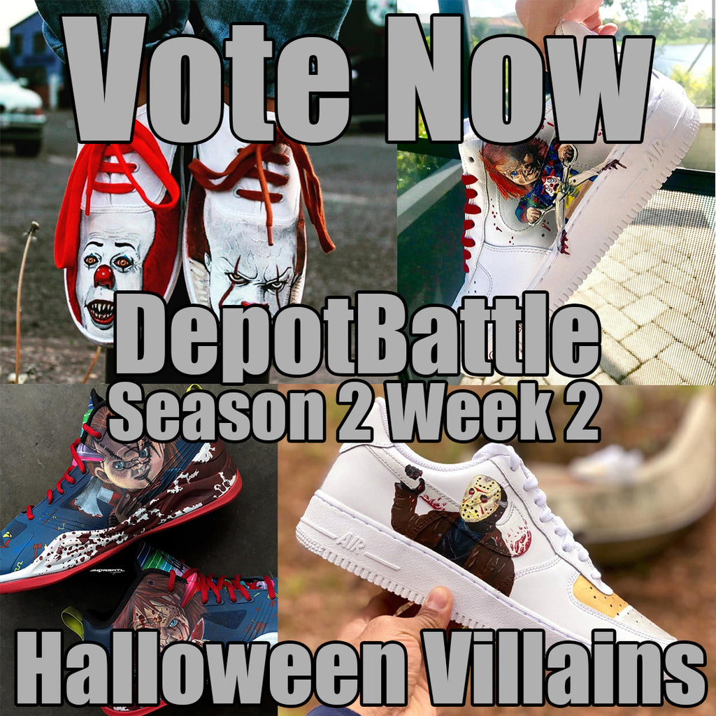 Best Halloween Villian Custom Sneakers DepotBattle Season 2 Week 2. Vote TODAY! Give Away ALERT