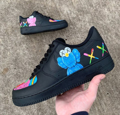 Kaws Custom Painted Nike Air Force 1 By Starlinecustoms