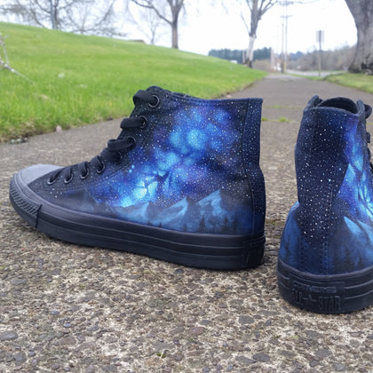 Milkyway Moutainscape Converse - CustomizerDepot