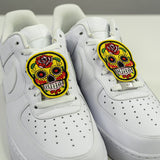 Sugar Skull Shoe Lace Patches - CustomizerDepot