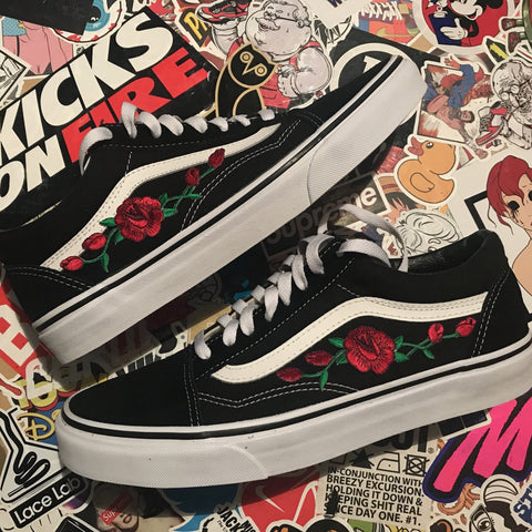 "Vans Old Skool ""Rose Vine"" - CustomizerDepot"