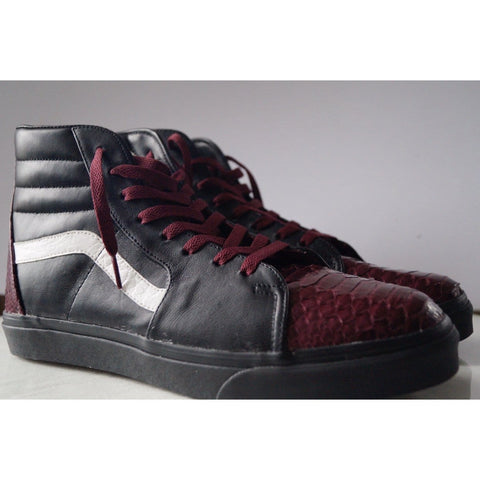 "Vans Sk8 High ""Burgundy Pythons"""