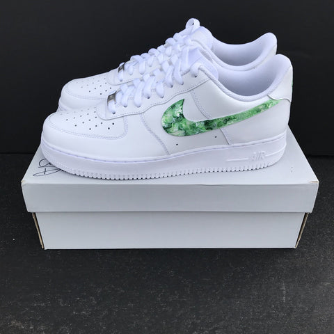 "Nike Air Force 1's ""Green Marble"" Sample - CustomizerDepot"