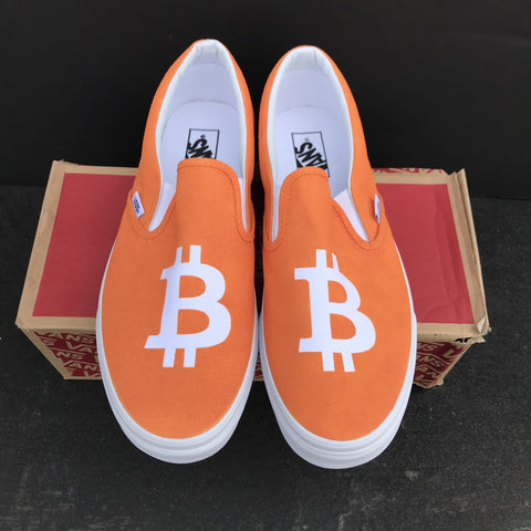 "Vans Slip On ""Bitcoin"" Sample - CustomizerDepot"