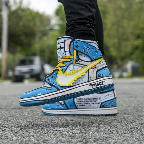 Vegeta Off White Air Jordan 1's - CustomizerDepot